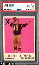 1959 Topps Football #23 Bart Starr Green Bay Packers HOF PSA 8 NM-MT