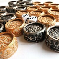 Backgammon Replacement 30 Board Game wooden leather Checkers Chips Pieces dice