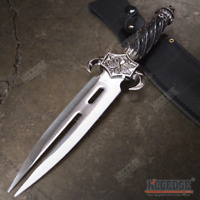 """12.5"""" TWIN BLADE Dagger DRAGON CLAW Fixed Blade Knife Hunting Camping Knife"""