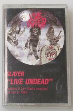 Slayer Live Undead 1985 Cassette Tape w 3 Live Tracks Enigma Metal Blade 72015-4