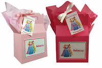 Personalised Disney Princess Birthday Party Favour Sweets Lunch Gift Box/Bag