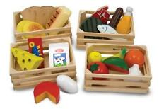 Food Play Set Kids Toddler Toy Healthy Watermelon Corn Crate Storage Pretend New