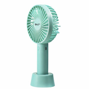 """Comfort Zone CZPF402GN4"""" Personal Rechargeable Wand Fan, Teal"""