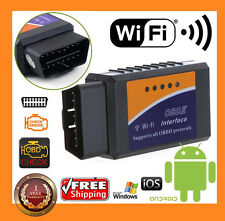 ELM327 WIFI OBD2 OBDII Car Diagnostic Scanner Tool Code Reader for Android / IOS