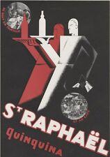 """""""ST.RAPHAËL"""" Annonce originale entoilée pour L'ILLUSTRATION années 30  28x39cm"""