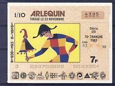 BILLET DE TOMBOLA ARLEQUIN 1983 LOTERIE NATIONALE