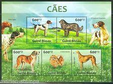 Guinea Bissau 2013 Dogs Foxhound St. Bernard Setter Spitz Sheet Mint Nh