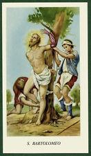 antico santino - holy card SAN BARTOLOMEO santini