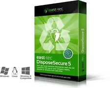 East-tec DisposeSecure 5, Securely Erase hard drives, partitions, media device