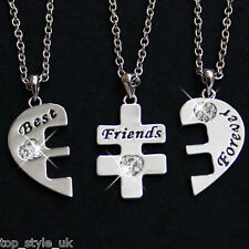 Three Part Necklace Set for three Best Friends Graduation Birthday Gift Present