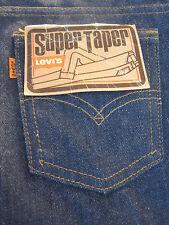 Nos Vintage 1970s Super Taper 705 Levis Blue Jeans High Rise Retro Denim 26x33