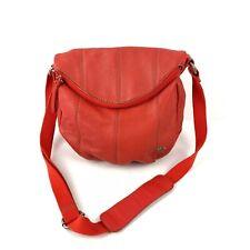 The Sak Leather Handbag Deena Coral Orange Crossbody Bag