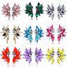 Elegant Charm Women Rhinestone Resin Wings Ear Stud Eardrop Earring Jewelry Gift