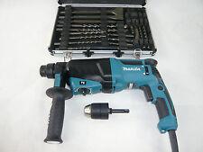 MAKITA Bohrhammer Kombihammer HR2630 X7 + 13mm Bohrfutter UND Meißel Bohrer Set