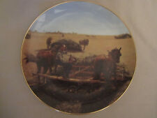 Taking A Breather collector plate Emmett Kaye Farming the Heartland Horses Hay