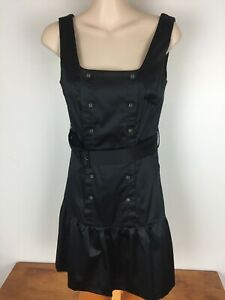 Alive Girl Black size 8 dress with buttons down the front