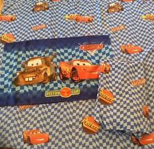 Disney Pixar CARS Lightning McQueen Mater Twin Size Bed Flat, Fitted, Pillowcase