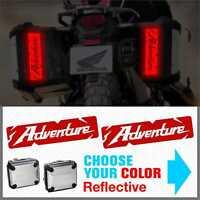 2x ADVENTURE Rifrangenti ADESIVI compatibile con HONDA valigie laterali CRF1000L