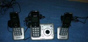 VTech CS6429-3 DECT 6.0 Cordless Phone, Answering System/Caller ID/Silver