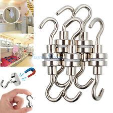 10PCS 16mm Ferrite Magnetic Hooks 5.5kg Super Strong Neodymium Magnet Hook 12lbs