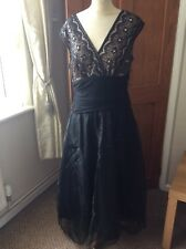 Jessica Howard Ankle Length Fit And Flare Cocktail Sparkly Dress Size 14 A Must