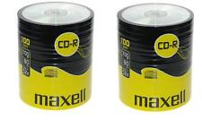 200 Maxell CD-R 700mb 80Min 52x Blank Recordable Discs Data Music In Shrinkwrap