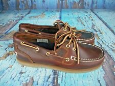 New Timberland Amherst Brown Leather 2-Eye Boat Shoes 72333 Women's Size: 6 W