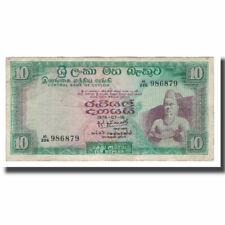 [#568194] Banknote, Ceylon, 10 Rupees, 1969-1977, KM:74c, VF