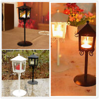 ALS_ KQ_ Romantic Candle Holder Stand Antique Vintage Lantern Wedding Decor New