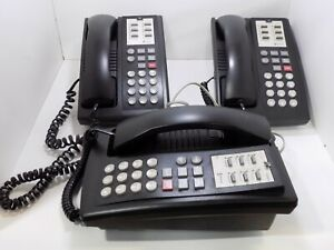 Three (3)  Avaya Partner 6 Multi-Line Phones with Bases - Untested