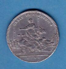 (J.25) JETON EGLISE SAINTE GENEVIEVE  ROI LOUIS XV ETAIN 1740 (SUP) RARE