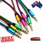 Braided Gold Plated 3.5MM Jacks Male To Male Audio Cable AUX Cord For Car Phone