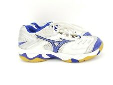 MIZUNO WAVE RALLY 5 Volleyball  Women's Shoes Size 6 BLUE WHITE
