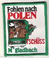 "Anti Gladbach Aufnäher ""Fohlen..Polen"" Kutte Weste Fan Patch Block Kurve + neu +"