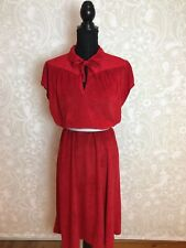70s Vintage Red Towelling Dress, By Arnel, 18-20, Beautiful ❤️