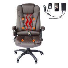 Heated Vibrating Massage Chair Executive Ergonomic Computer Office Desk Brown