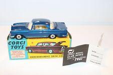 Corgi Toys 253  Mercedes Benz 220SE Coupe RARE blue very very near mint in box