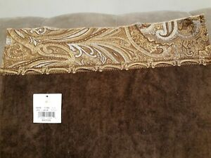 Avanti Linens Bradford Bathroom Hand Towel Java Brown Paisley NEW B5