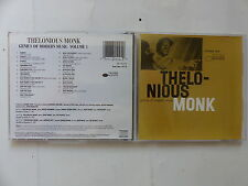 CD Album THELONIOUS MONK Genius of modern music Vol 1 Blue Note CDP 7 81510 2