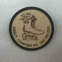 """Vintage 2-1/8"""" Century 21 Advertising Pin Pinback Button   M4"""