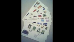 10 UK Royal Mail FIRST DAY COVERS -1981-83 incl British Army & British Gardens.