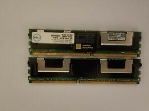 2GB (1GBx2) SNP9F030CK2/2G DELL 2GB PC2-5300 667 MHz DDR2 MEMORY KIT FB-Dimm