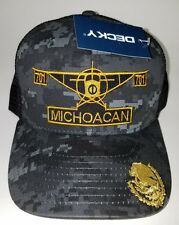 EL AVION DEL CHAPO MICHOACAN  MEXICO  701 HAT 2 LOGOS DIGITAL HAT GRAY BLACK