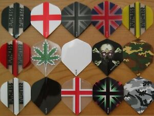Ruthless Dart Flights -15 Colour Choices- Standard Shaped-1/3/5/10 Sets....