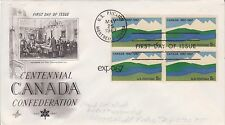 (USP-237) 1967 Canada FDC 5c 4block Canada Confederation (B)