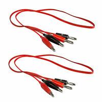 2pcs 3ft Probe Test Cable 4mm Banana Plug to 35mm Alligator Multimeter Lead Clip