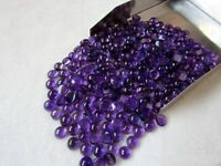 Wholesale Lot of 6X6 mm Round Cabochon- Natural Purple Amethyst Loose Gemstone