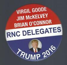 2016 VIRGINIA RNC DELEGATES FOR TRUMP NATIONAL CONVENTION PICT CAMPAIGN BUTTON