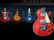 Tailpeace tail piece snake gold pour Gibson, Epiphone, ESP, Jackson, Ibanez u.a