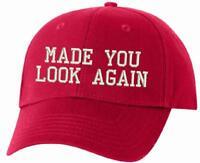Made you look again MAGA Donald Trump Adjustable embroidered hat MAGA Trump